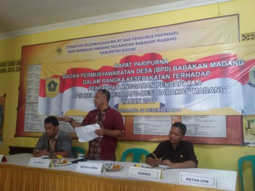 Rapat Penetapan APB-Desa tahun 2017