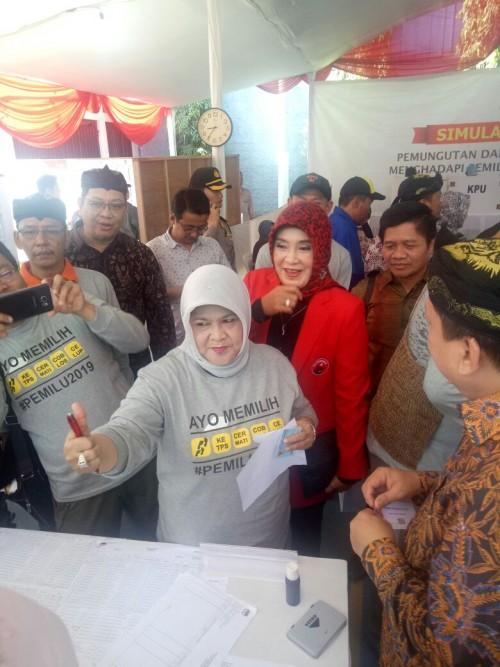 Simulasi Nasional Pemilu Serentak di Babakan Madang