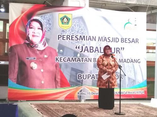Bupati Bogor resmikan Masjid Besar Jabal Nur